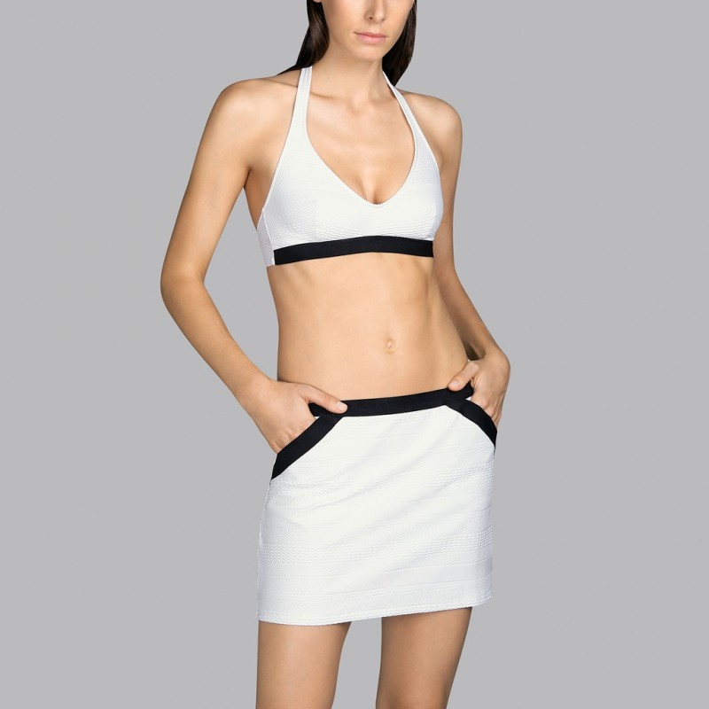 White pareo skirt Andres Sarda- White Mod Pareo skirt 2020