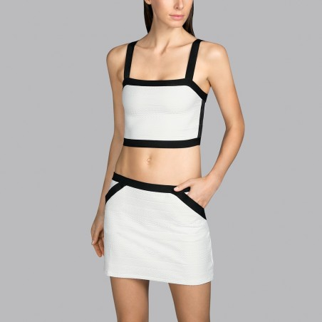 White swimwear top Andres Sarda- White 2020 Mod top