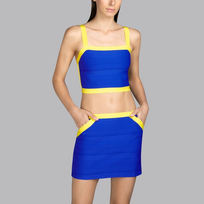 Blue and yellow swimwear top Andres Sarda- Blue and yellow 2020 Mod top