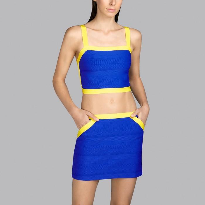 Top playa azul y amarillo Andres Sarda- Top Mod Azul y amarillo 2020