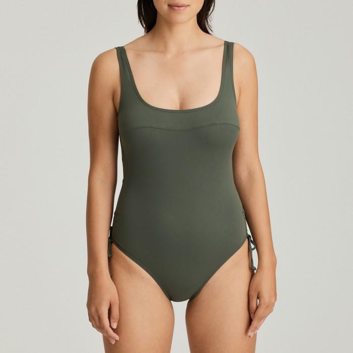 Maillots de bain vert militaire rembouage amovible grandes tailles, maillot Primadonna Holiday vert grandes tailles 2020,
