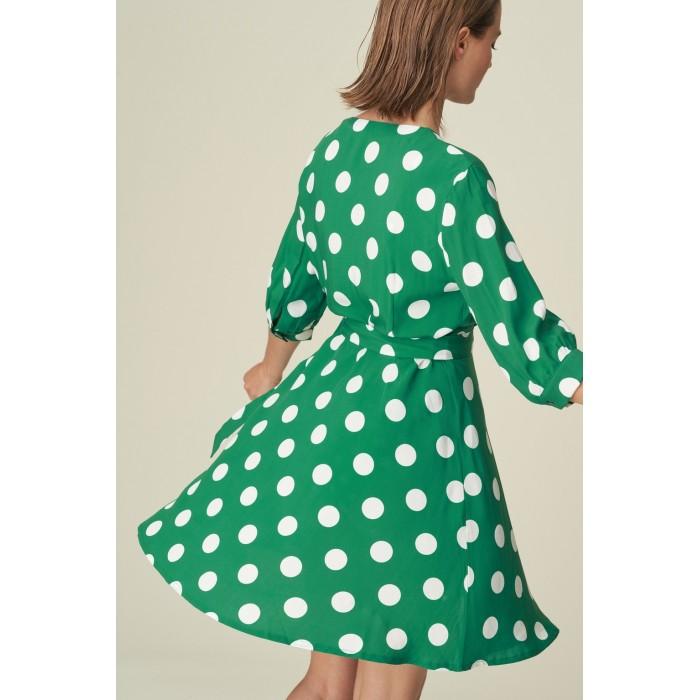 Vestido verano verde a lunares- Vestido Rosalie, verde, lunares, Verde Kelly 2020