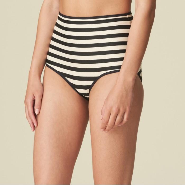 Bikini striped high waisted -  2020 bikini striped high brief