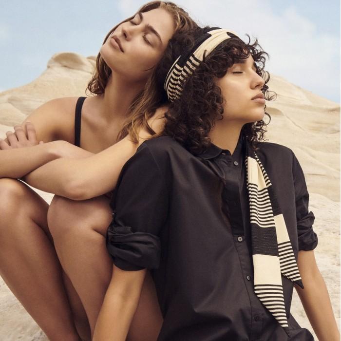 Beach striped turban -  Beach turban Merle 2020
