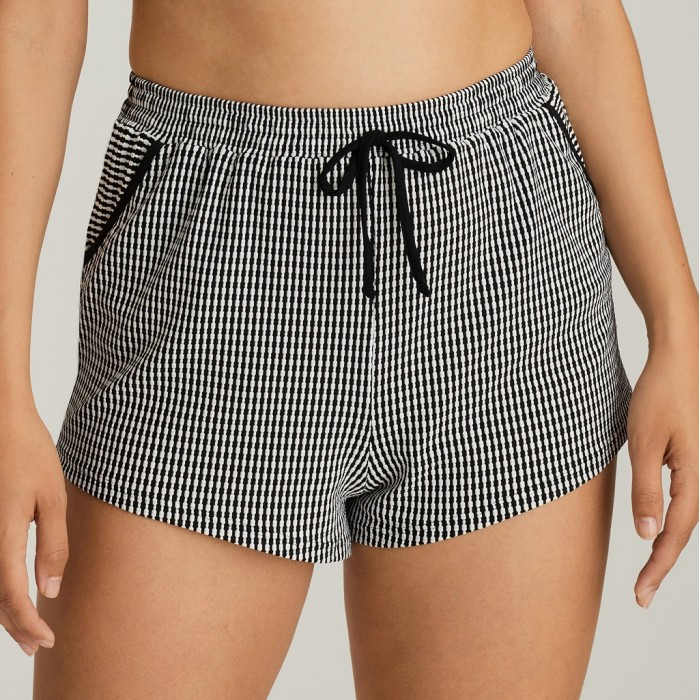 Black and white Short beach sizes large, beach short , Primadonna Atlas Black 2020,