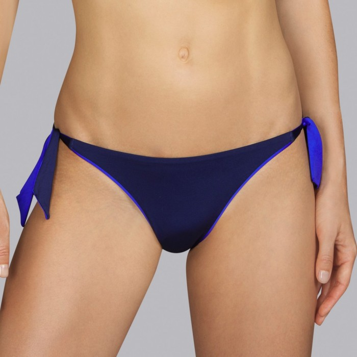 Bikini azul marino noche Andres Sarda - Bikini de lazos Boheme azul 2020