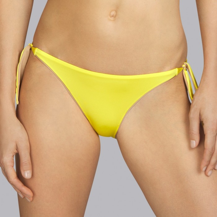 Bikini amarillo Andres Sarda - Bikini de lazos Boheme amarillo como el día 2020
