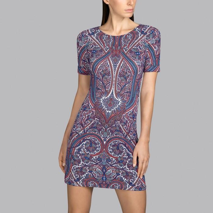 Printed summer dress cashmere Earth Andres Sarda - Summer dress Power Paisley print 2020