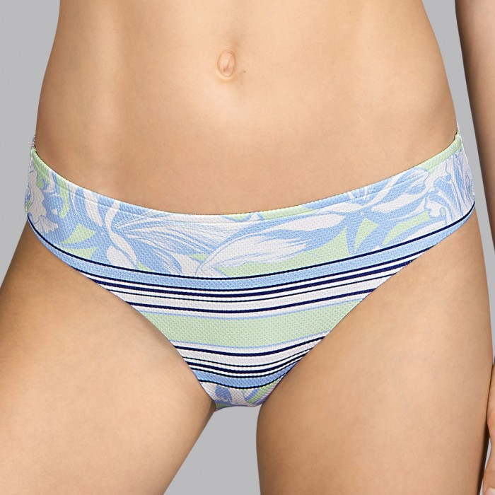 Culotte de maillot de bain à fleurs menthe et bleues Andres Sarda - Bikini Power Fleur Pacific 2020