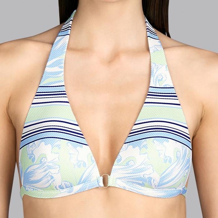 Padded Triangle flower Bikini Triangle blue and mint Andres Sarda - Bikini Triangle Power Pacific Flower 2020