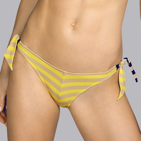 Yellow tie bikini - Andres Sarda Tie bikini Yellow, toffe and navy blue Naif 2020