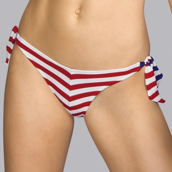 Bikini noeud, rayé rouge Andres Sarda - Bikini noeuds Naif rouge, bleu et blanc 2020