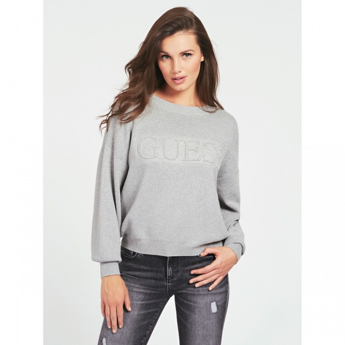 Guess lurex sweatshirt - Sweatshirt grey lurex TARA Guess