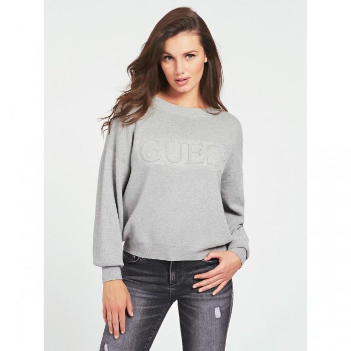 Sweat lurex Guess- Pull lurex TARA GUESS, logo GUESS souligné