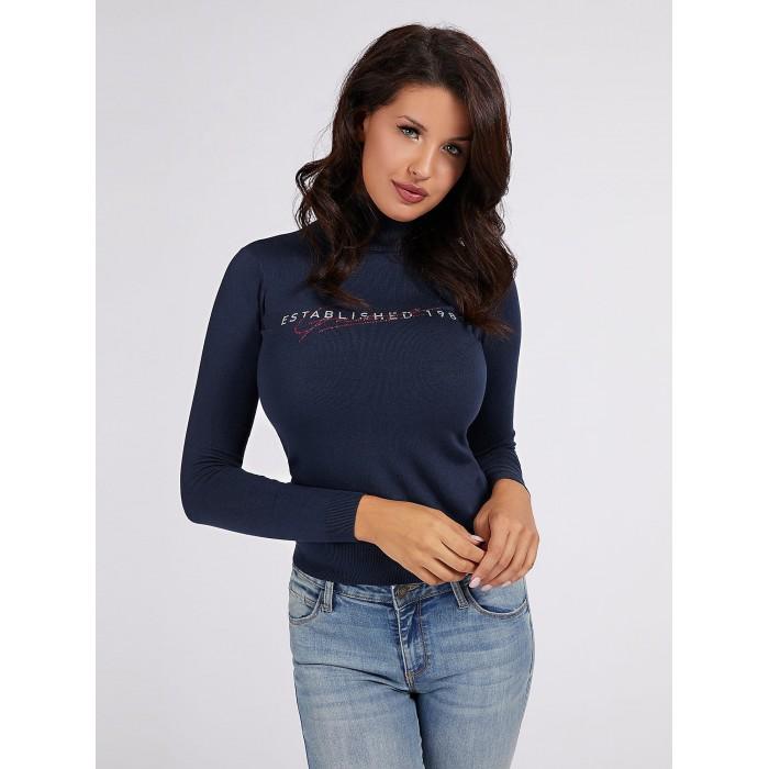 Jersey azul oscuro cuello alto Guess- MARTA jersey navy GUESS