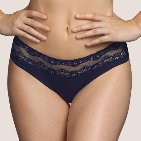 Bikini briefs- lace briefs- Andres Sarda 2020  Verbier Night Blue,  lingerie and lace underwear