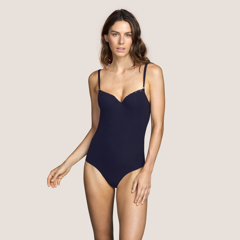 Lace bodysuit- body underwear- Andres Sarda 2020  Verbier Night Blue,  lingerie and lace underwear