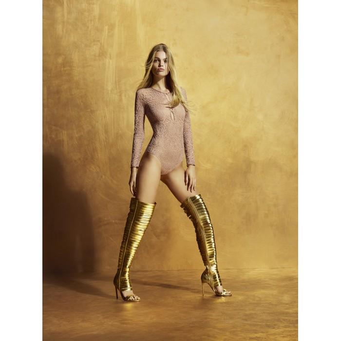 Body mujer- body encaje, manga larga- Andres Sarda lencería, Lynx Bois de Rose, ropa interior encaje