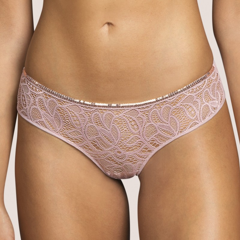 Lace short- lace thong, thong short- Andres Sarda lingerie, Lynx Bois Rose, lace underwear