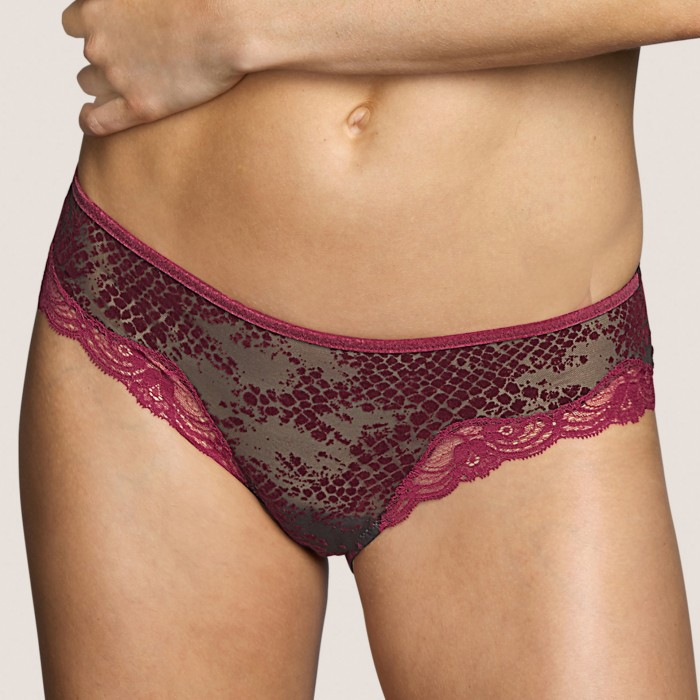 Lace short- short brief- Andres Sarda Lingerie Mamba Red Boudoir, lace lingerie