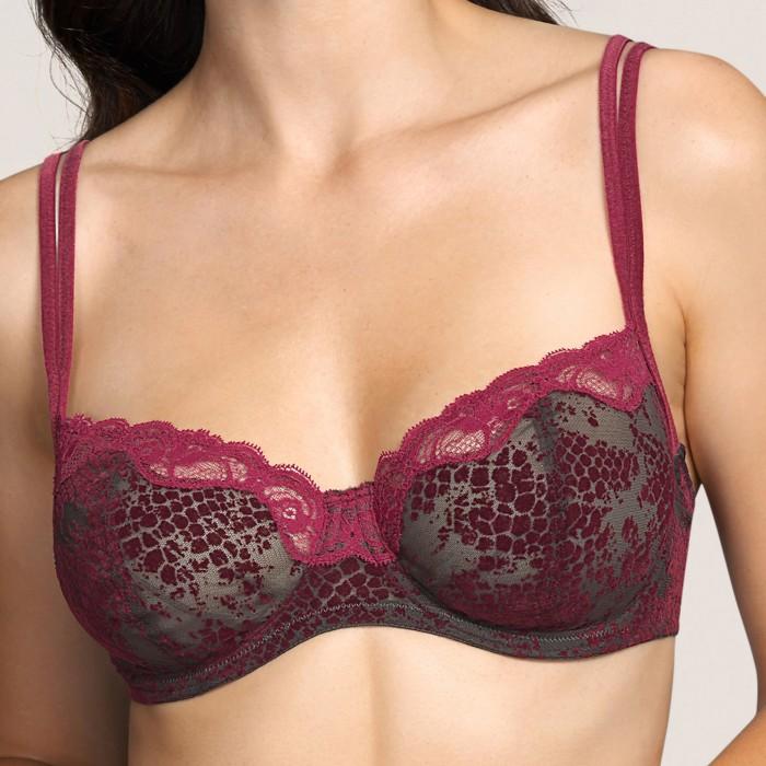 Padded bra- lace bra, wire bra- Sarda Lingerie Mamba Red Boudoir, lace lingerie, size 100, cups D, E