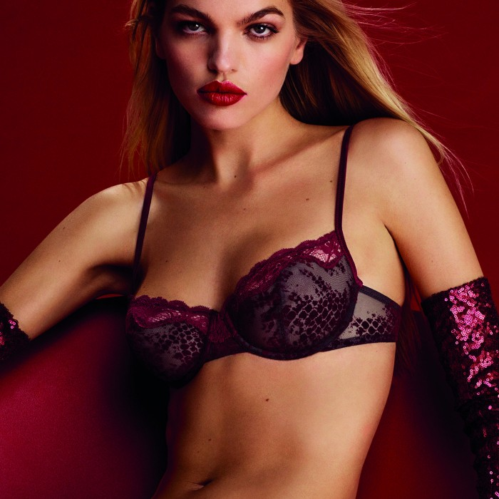 Lace bra- wire bra, non padded- Sarda Lingerie Mamba Red Boudoir, lace lingerie, size 105, cups B, C