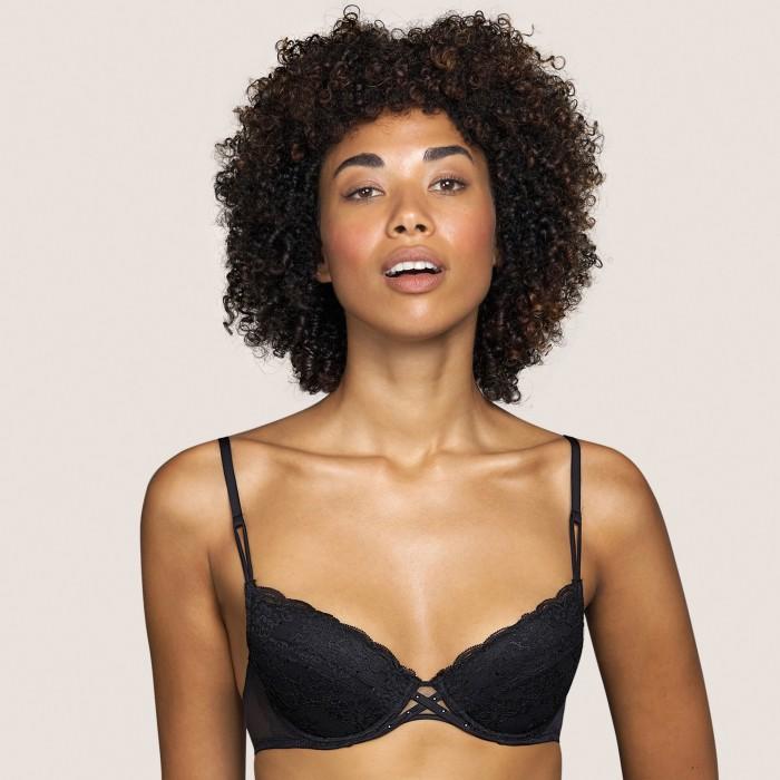 Black Push up- lace push up- Tiger Black Andres Sarda lace Lingerie, bras, size, 85,100, cup B,C,D,E