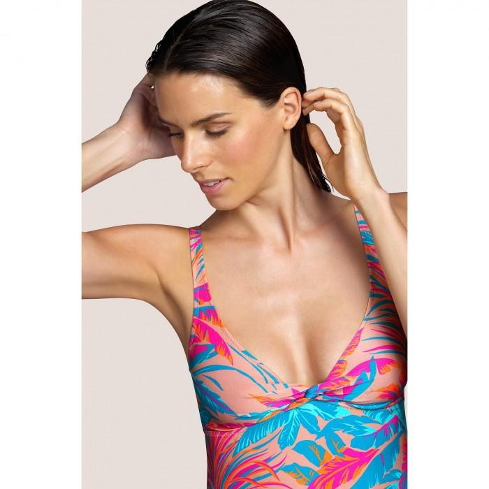 Vestido largo verano ANDRES SARDA- Lamarr Tropical Sand Baño mujer 2021- Vestidos playa mujer 2021, estampado rosa tropical