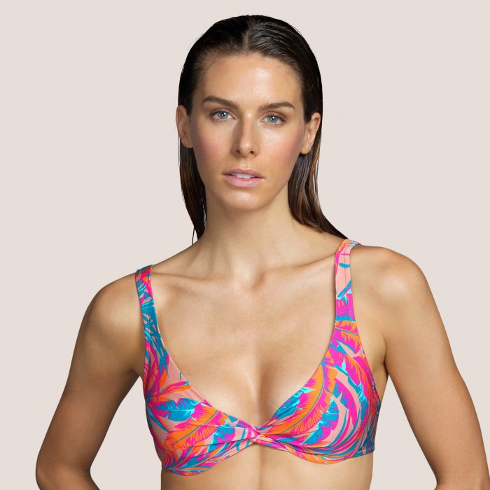 Haut de bikini rose,à armature ANDRES SARDA- Lamarr Tropical Sand, BAIN femme 2021- Bikinis rembourré tropical, B-E, 100
