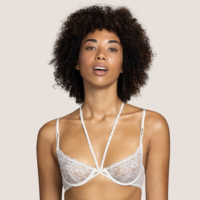 White lace bra, sexy bra- Tiger White Andres Sarda, Bridal Lingerie and underwire non padded bra Underwear