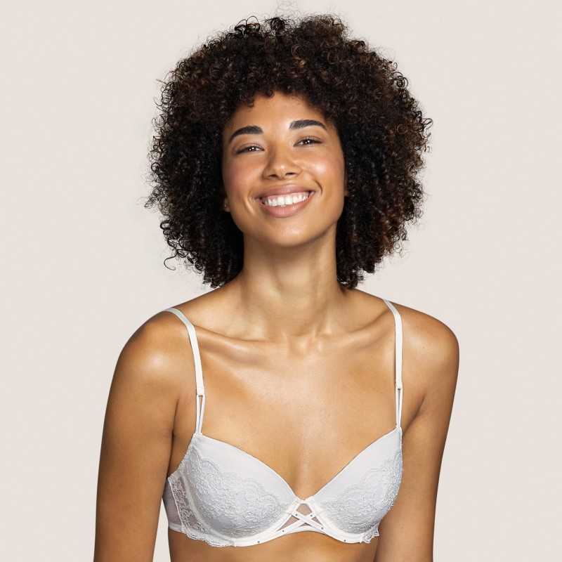 Padded white lace bra- Tiger White Andres Sarda, Bridal Lingerie and Underwire bra Underwear