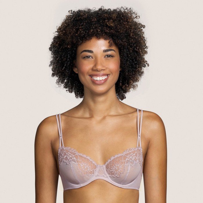 Pink bra - with wire and non padded, cup B, C- Eden Rock Pink Andres Sarda 2021 Lingerie