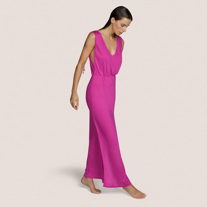 Robe rose longue été ANDRES SARDA- BIBA ROSE robes BEACHWEAR femme 2021