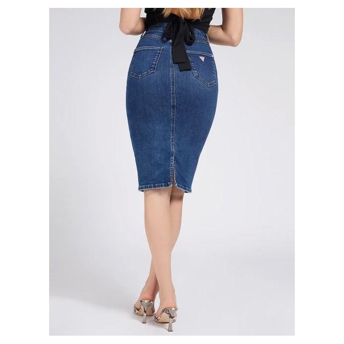 Denim pencil skirt ECO GUESS 80S LONGUETTE denim skirt Eco Lush DRESSES-SKIRTS GUESS- Online