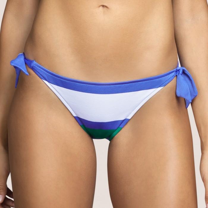 Bas maillot bain noeud bleu rayé, culotte noeud ANDRES SARDA ELSA BLEU-Bikinis culotte liens 2021