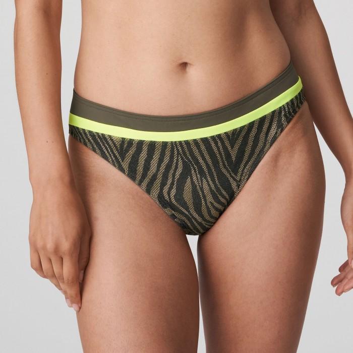 Green animal print bikini brief plus size, PrimaDonna Atuona Green- Plus size Bikinis 2021