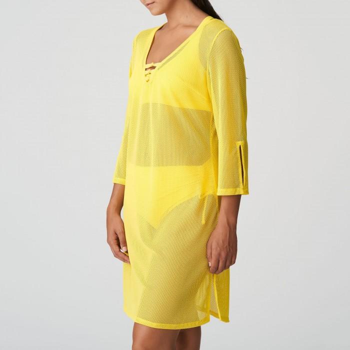 Kaftan robe de plage jaune grande taille, Caftán sarong Primadonna Holiday Jaune grande taille 2021