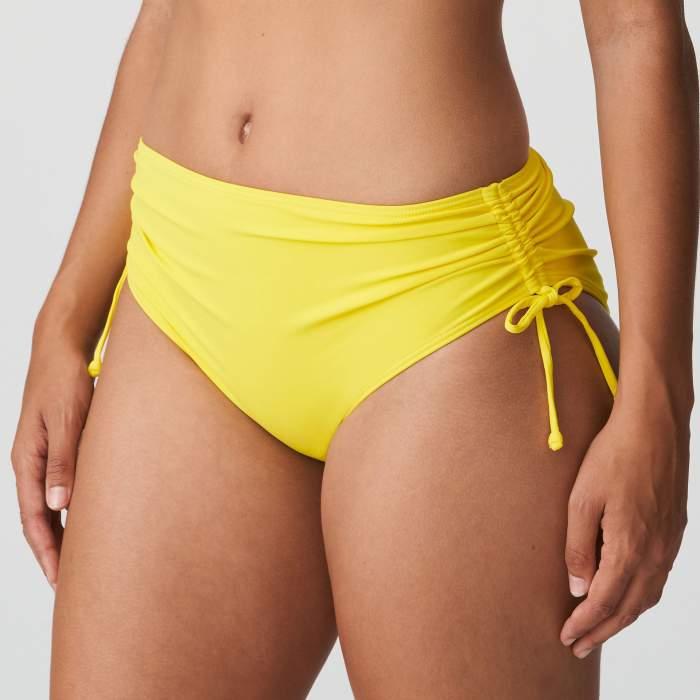 Bas maillot de bain taille haute jaune grande taille, bikini taille haute Primadonna Holiday Jaune grande taille 2021