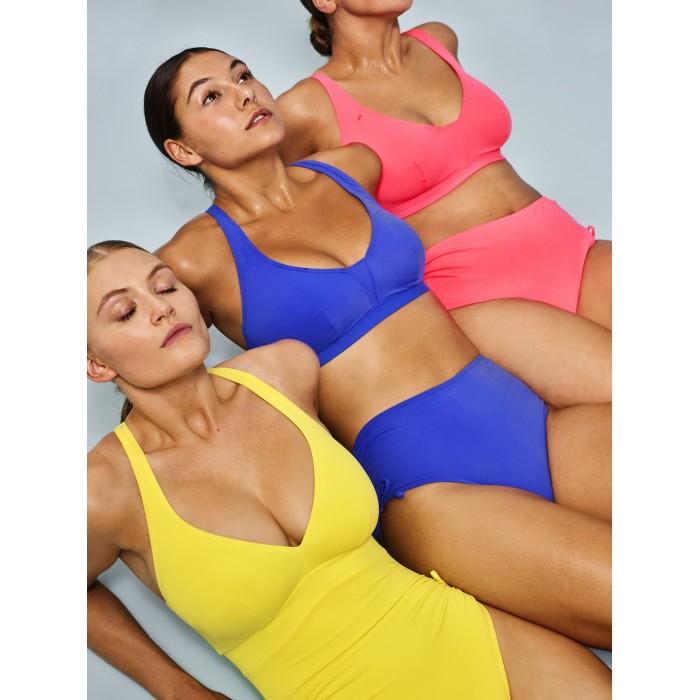 Maillot de bain triangle jaune, rembourré sans armatures grande taille, Maillot bain Primadonna Holiday Jaune grande taille 2021