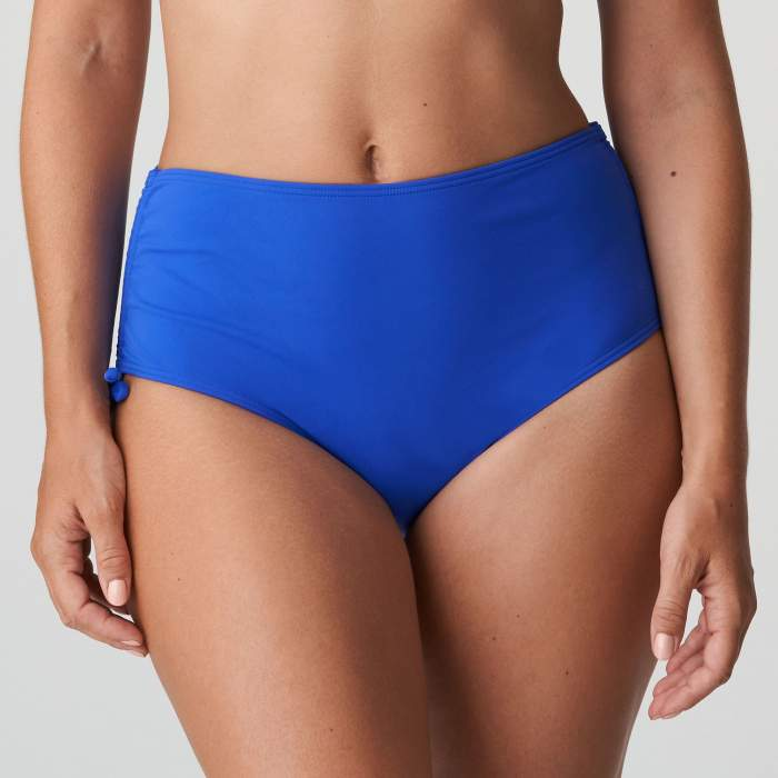 Bas maillot de bain taille haute bleu grande taille, bikini taille haute Primadonna Holiday Bleu grande taille 2021