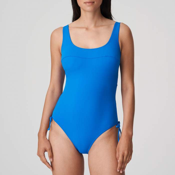 Maillot de bain bleu grande taille rembourré amovible, Maillot bain Primadonna Holiday Bleu grande taille 2021