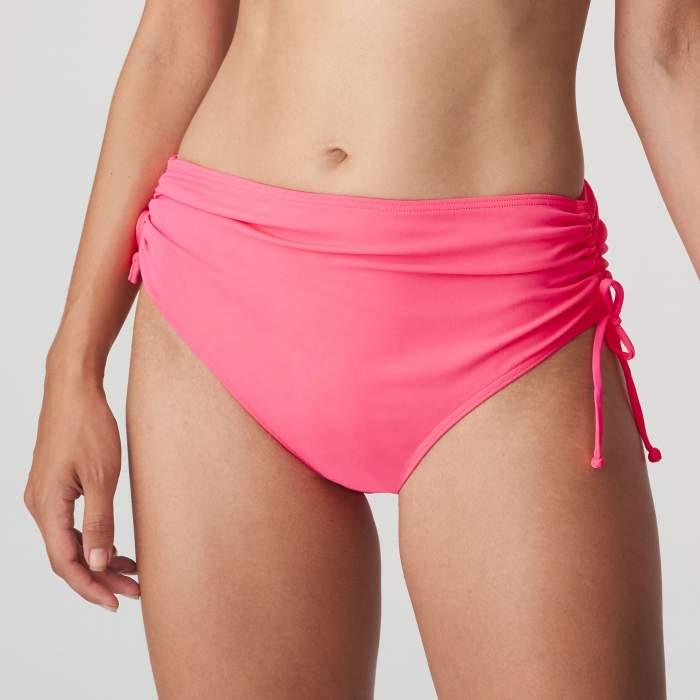 Bas maillot de bain taille haute rose grande taille, bikini taille haute Primadonna Holiday Rose grande taille 2021