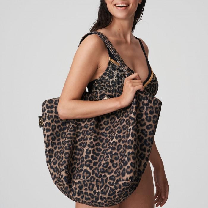 PRIMADONNA animal print beach bag, large capacity bag-KIRIBATI Leopard, Beach bags 2021
