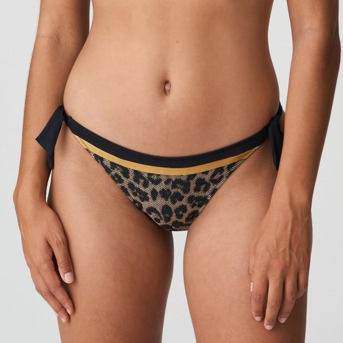 Bikini slip à nouer, imprimé animal, PRIMADONNA, bikini hip-KIRIBATI Leopard, Bikinis grandes tailles 2021