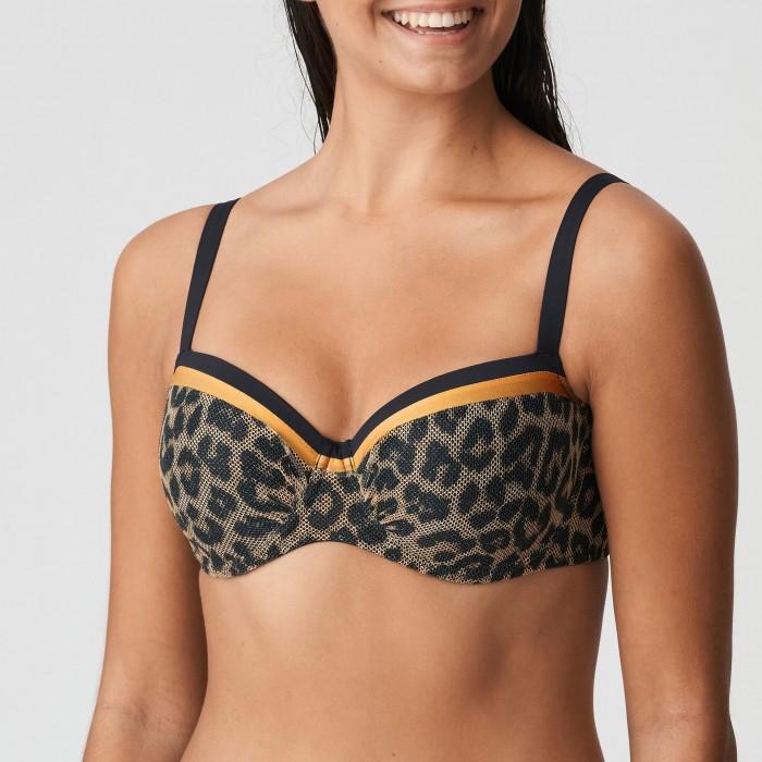 Bikini balconette animal print PRIMADONNA, balconet con relleno-KIRIBATI Leopardo, Bikinis tallas grandes 2021