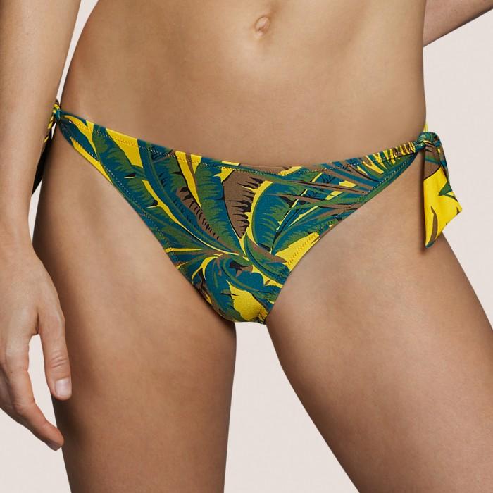 Bikini braga de cadera con cordones amarillo- Bikini amarillo