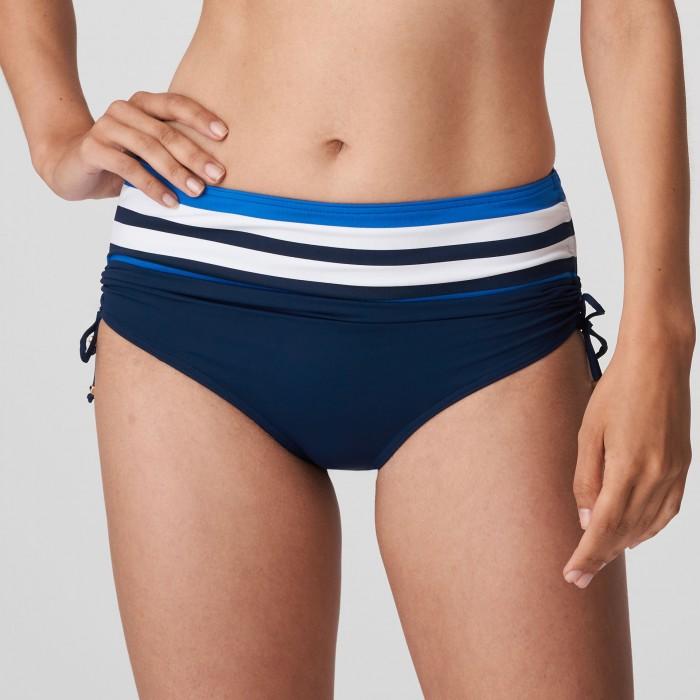 Bikini Azul rayas braga alta tallas grandes PrimaDonna- Polynesia Baño Azul Bikinis braga alta 2021