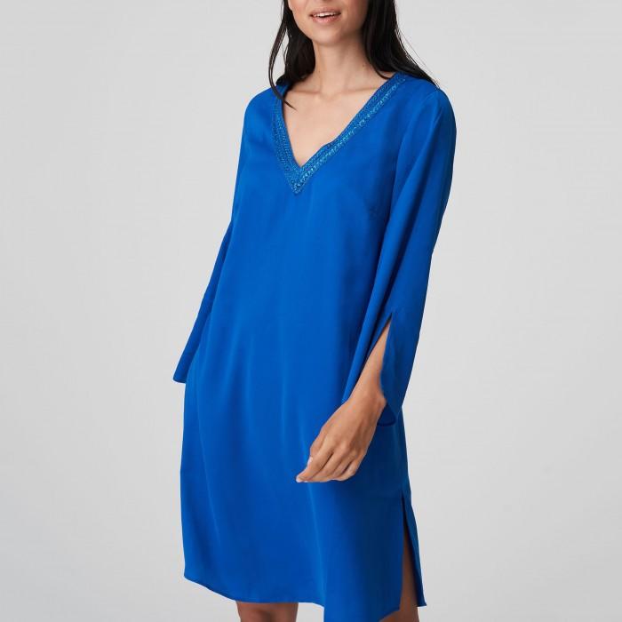 Blue Kaftan big size...