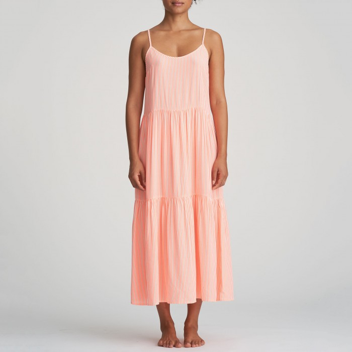 Summer corail long dress ,...