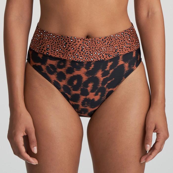 Bikini braga alta marrón animal print Zanzibar Verano 2021, braga de Bikini alta animal print, marrón, Verano 2021